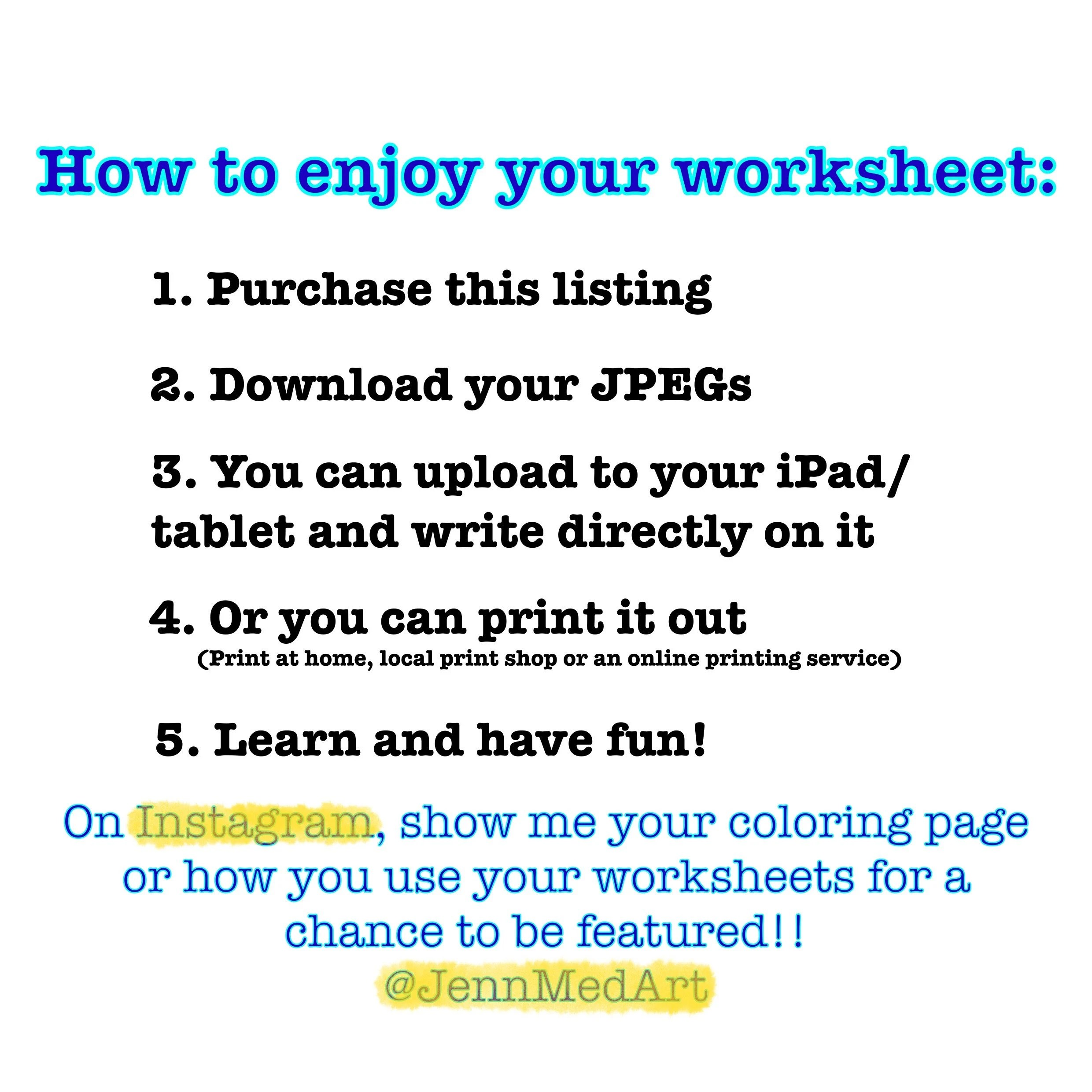 Build Your Own Worksheet Set Bundle