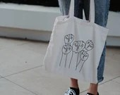 Black Lives Matter Tote Bag, Solidarity, Social Justice, Eco-Friendly, Travel Tote Bag, Handmade Tote, Medium Tote Bag, Political Gift