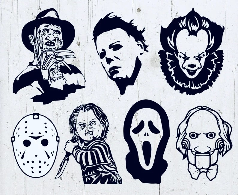 Horror Killers SVG Bundle Digital Download Vector Cut Files image 0