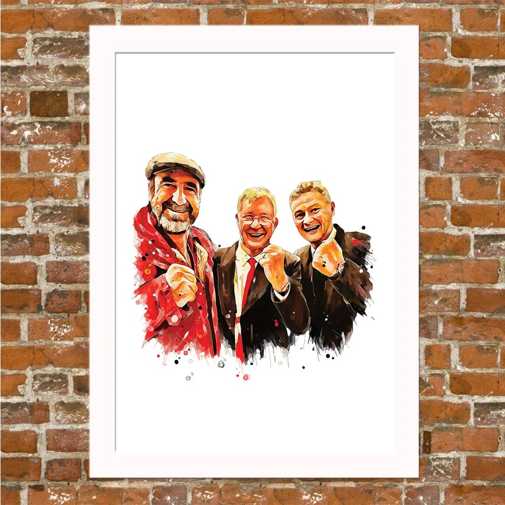 Célèbre manager du club anglais de manchester united de 1986 à 2013, ferguson a précédemment été un attaquant de bon niveau du championnat d'écosse puis a entraîné plusieurs. Manchester United Eric Cantona Alex Ferguson & Ole   Etsy