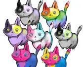 Pride Cat Stickers