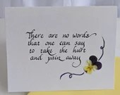 Sympathy Card | Thinking of you at this difficult time | Care and Comfort Cards | Christian Cards | Calligraphy cards |