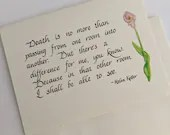 Sympathy Card | Thinking of you at this difficult time | Care and Comfort Cards | Christian Cards | Calligraphy cards|