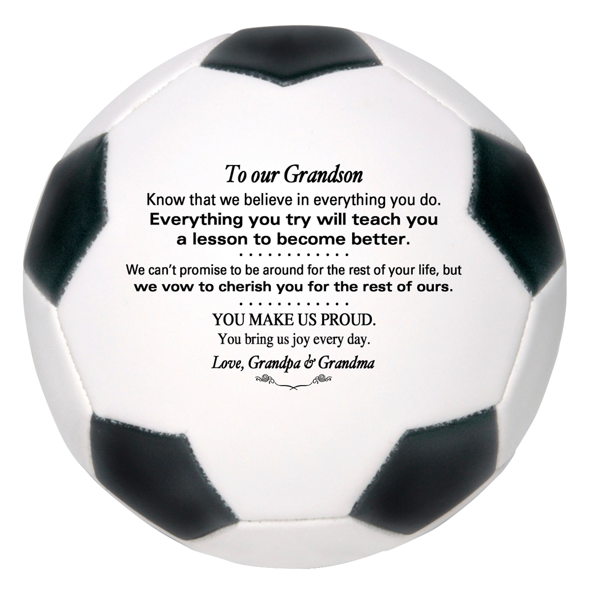 Personalized Custom Soccer Ball To Our Son Grandson Daughter image 4