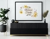 Personalised Bee Family Print. Our Family Hive Wall Art with custom family name in A4 & A3. Family or New Home Gift. Digital Download