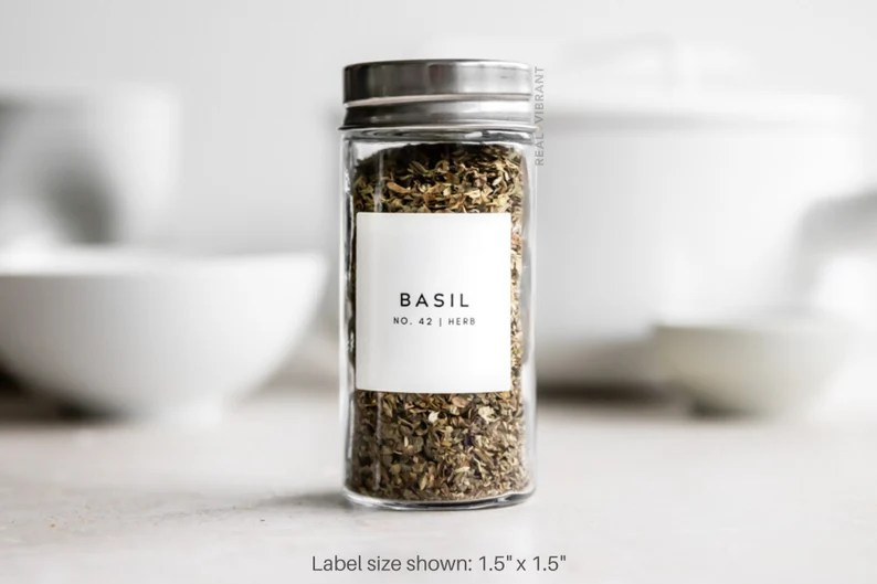 Spice Labels Minimal Collection  Water Resistant  Modern image 0