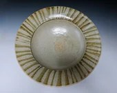 Striped Woodfired Shallow Bowl