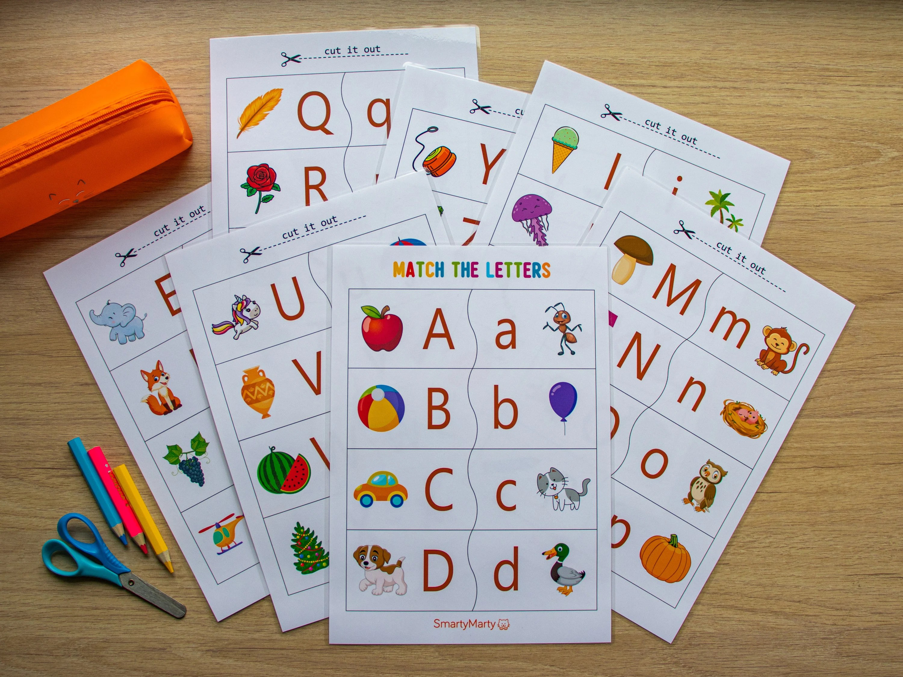 Alphabet Activities Letters Match Worksheet Printable