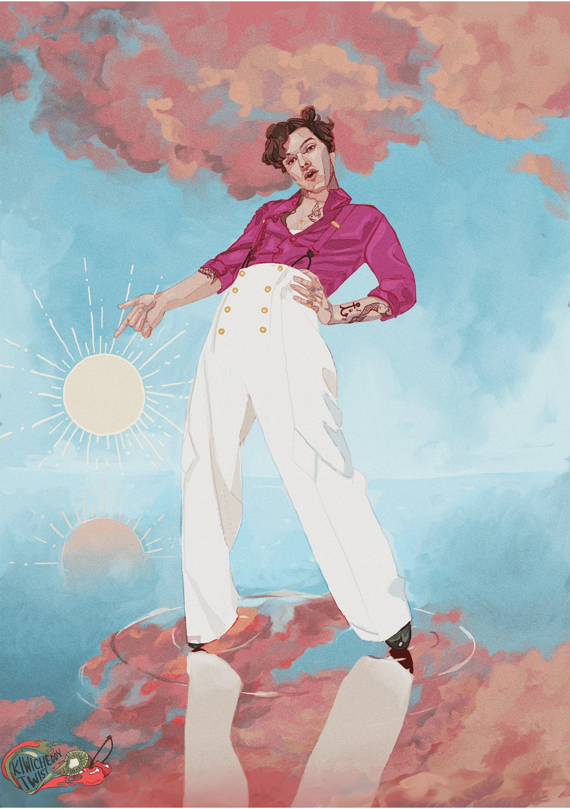 poster harry styles fine line album illustration
