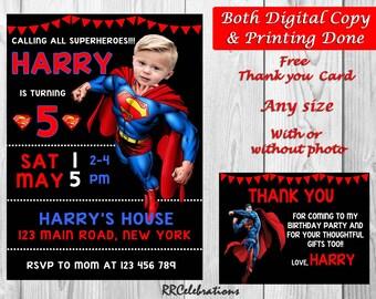 superman invitation etsy
