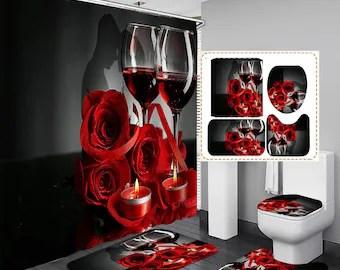 wine shower curtain etsy