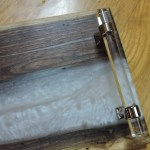 Pearl Epoxy River Board With Handles Serving Tray Serving Board Charcuterie Board Walnut Resin Handmade