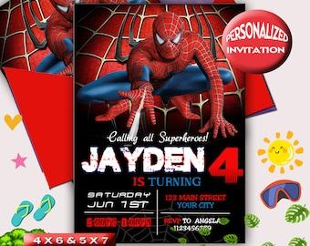 spiderman birthday etsy