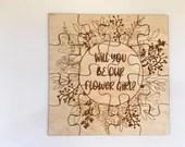 Flower Girl Puzzle | Will You Be Our Flower Girl? | Flower Girl Proposal | Wedding Puzzle | Kids Puzzle | Flower Girl Present | Ring Bearer