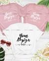Bachelorette Bella Canvas 3001 Mockup White Pink Tshirt Etsy