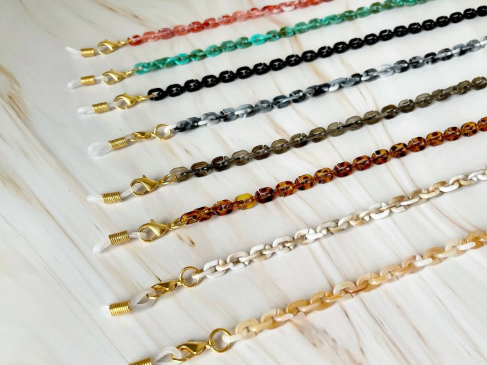 Face Mask Chain  Tortoise Shell Mask Chain  Face Mask Chain image 0