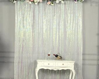 iridescent curtain etsy