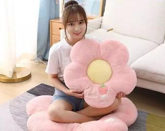 pink floor pillow etsy