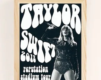 taylor swift poster etsy
