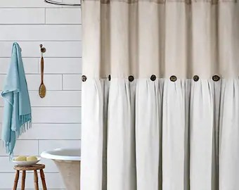 country shower curtain etsy