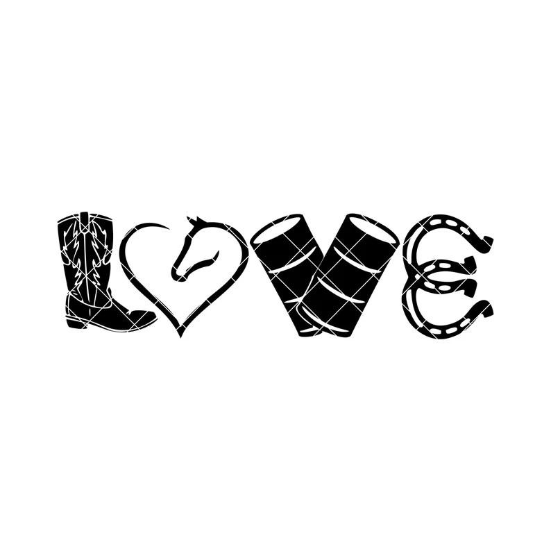Download Love Barrel Racing SVG Horse SVG Cowboy Boots SVG | Etsy