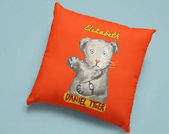daniel tiger pillow etsy