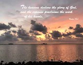Digital Download - Sunset with Scripture Series (P4T1) - Psalm 19:1