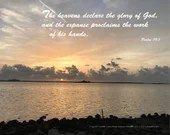 Digital Download - Sunset with Scripture Series (P1T1) - Psalm 19:1