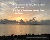 Digital Download - Sunset with Scripture Series (P1T2) - Psalm 19:4-5