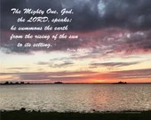 Digital Download - Sunset with Scripture Series (P6T3) - Psalm 50:1