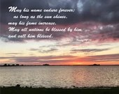 Digital Download - Sunset with Scripture Series (P6T5) - Psalm 72:17