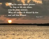 Digital Download - Sunset with Scripture Series (P2T5) - Psalm 72:17