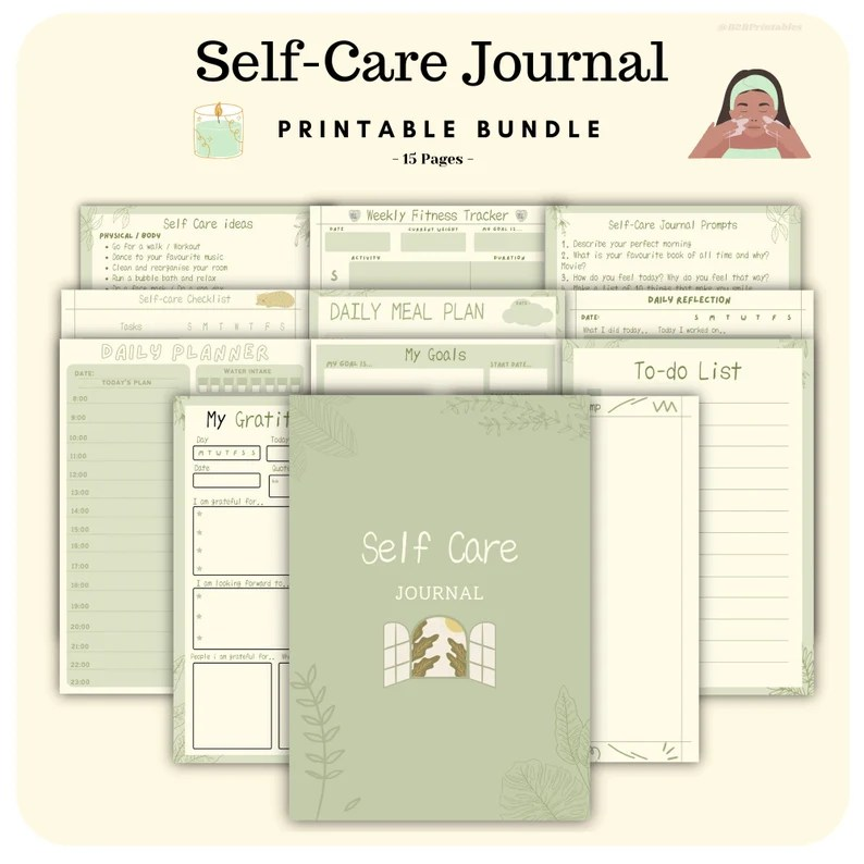 A4 Self care journal Daily planner wellness self care image 0