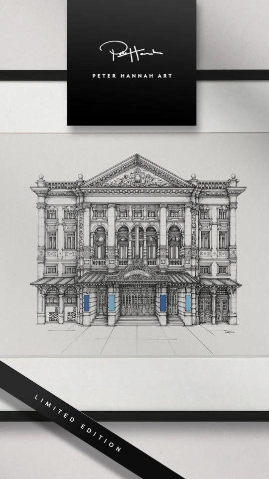 Dear Evan Hansen Noël Coward Theatre drawing dessin  cadeaux de noel comédie musicale