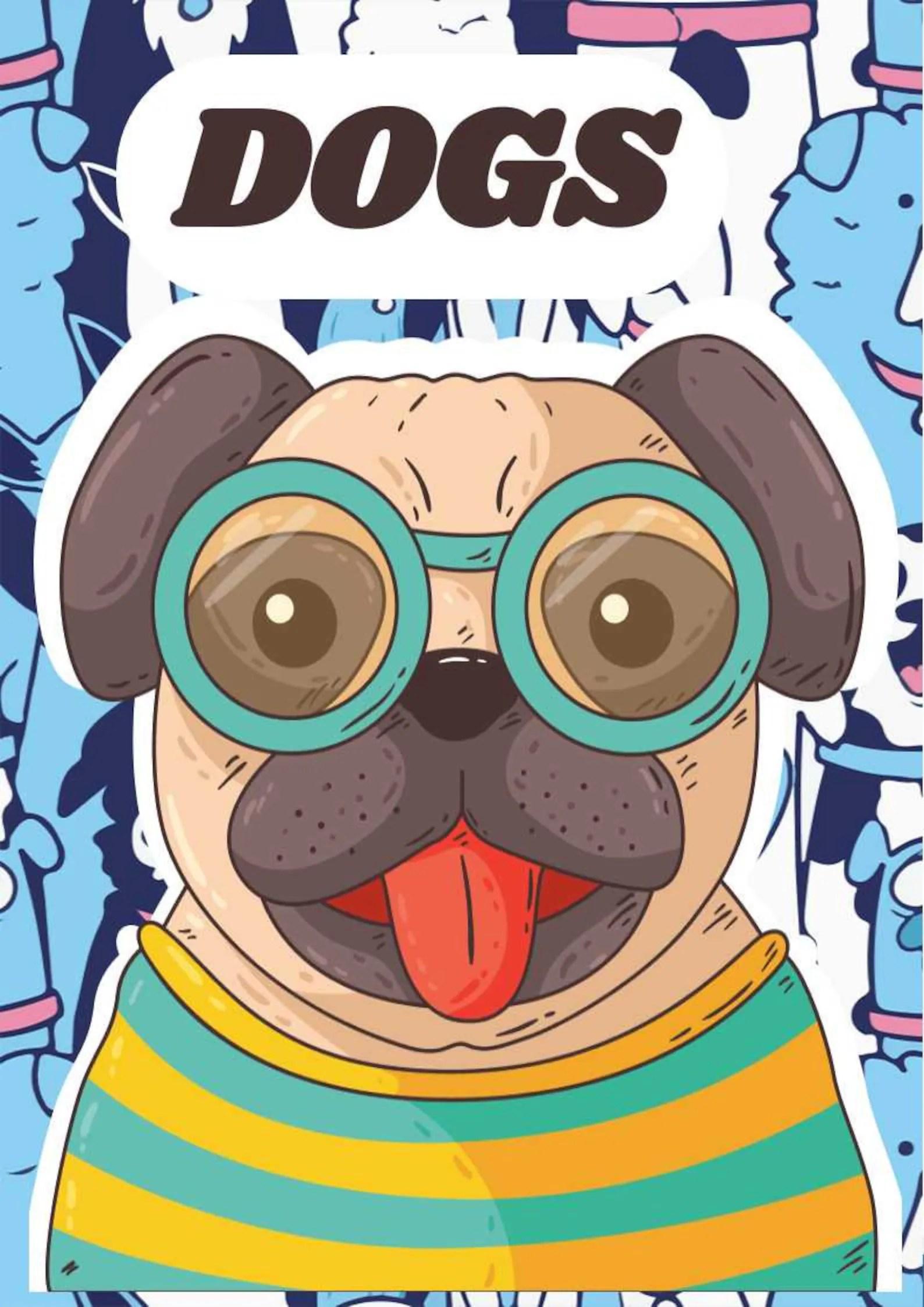Digital dogs coloring book