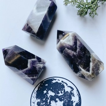 Chevron Amethyst Short Tower image 0