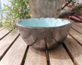 Ceramic bowl Blue soap tray sieve turquoise