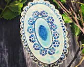 Ceramic bowl jewelry tray country house