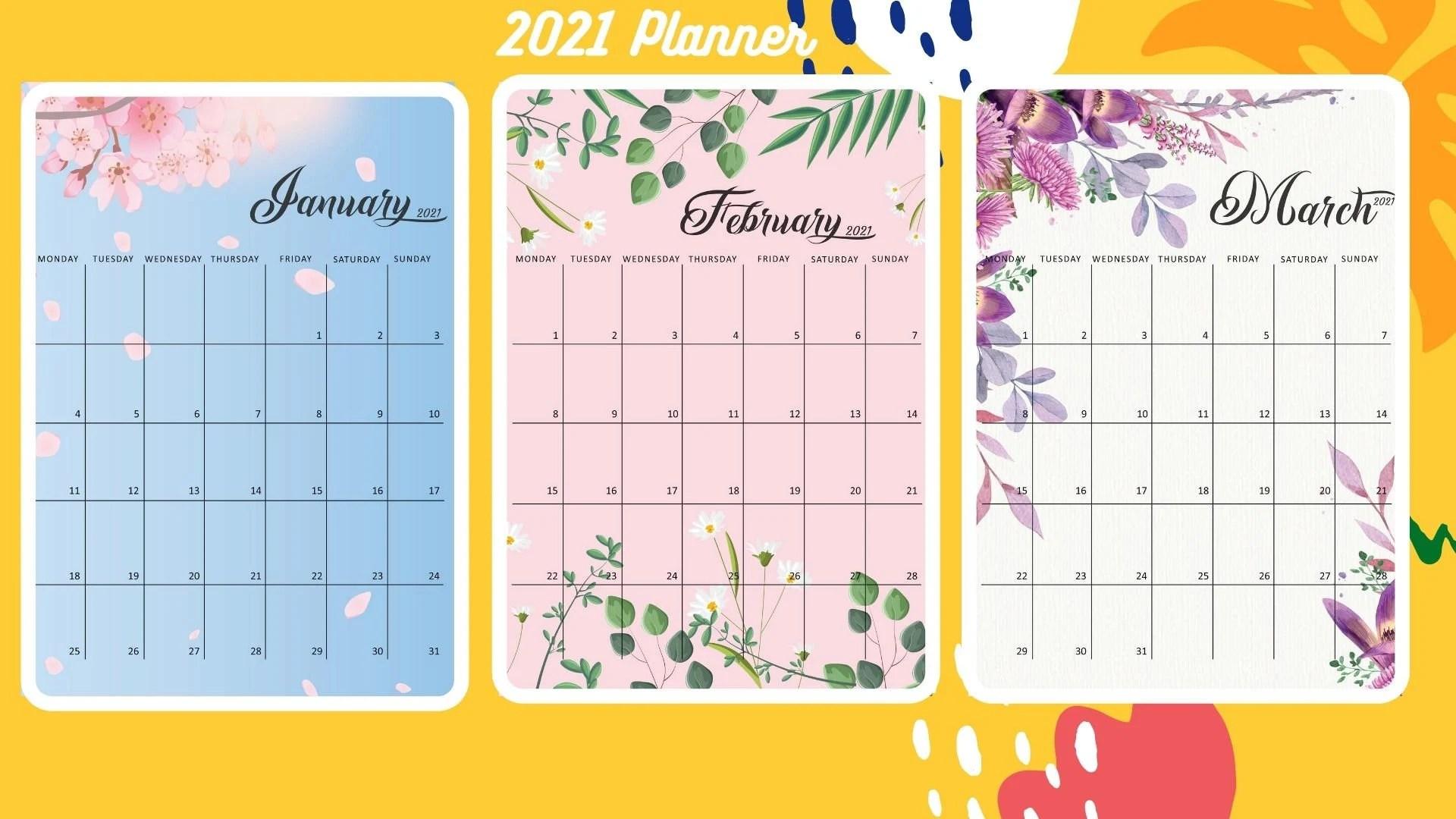 2021 blank monthly calendar pagespdf format. 2021 Calendar Printable 2021 Calendar Template Monthly   Etsy