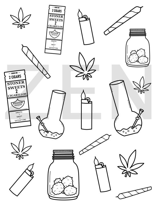 Marijuana Pattern Printable Coloring Page, Adult Coloring Page, Coloring  Pages For Adults, Stoner Coloring Page, Weed Coloring Sheet,