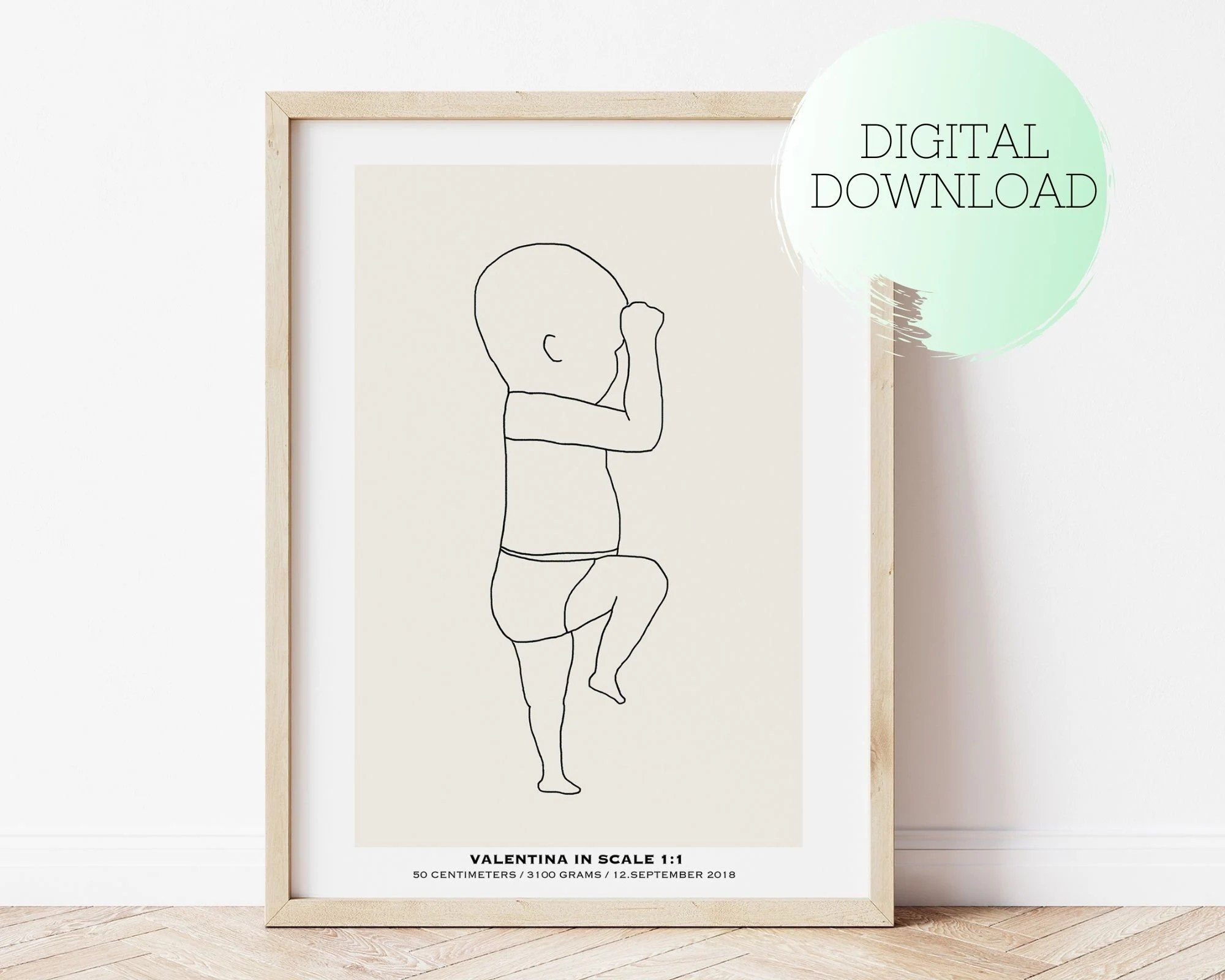 newborn baby poster etsy