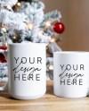 Christmas Mug Mockup Blank White Christmas Coffee Cup Mockup Etsy