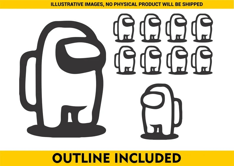 Download Among Us Svg Layered by color Cut file Cricut Silhouette ...