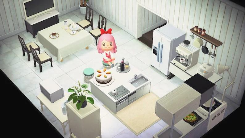 ACNH Kitchen Set Animal Crossing New Horizons Spacious | Etsy on Kitchen Items Animal Crossing  id=59296