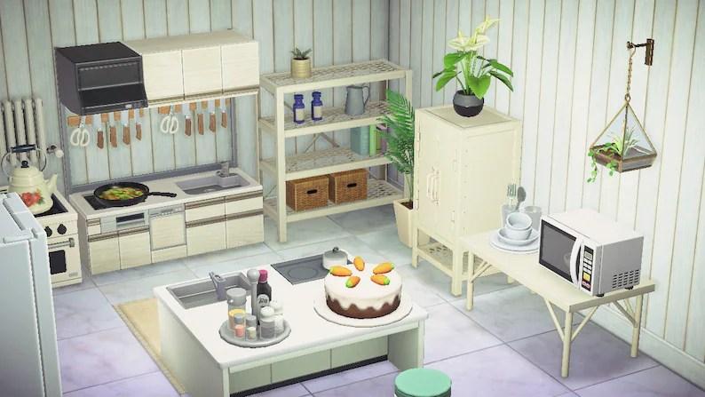 ACNH Kitchen Set Animal Crossing New Horizons Spacious | Etsy on Kitchen Items Animal Crossing  id=83373