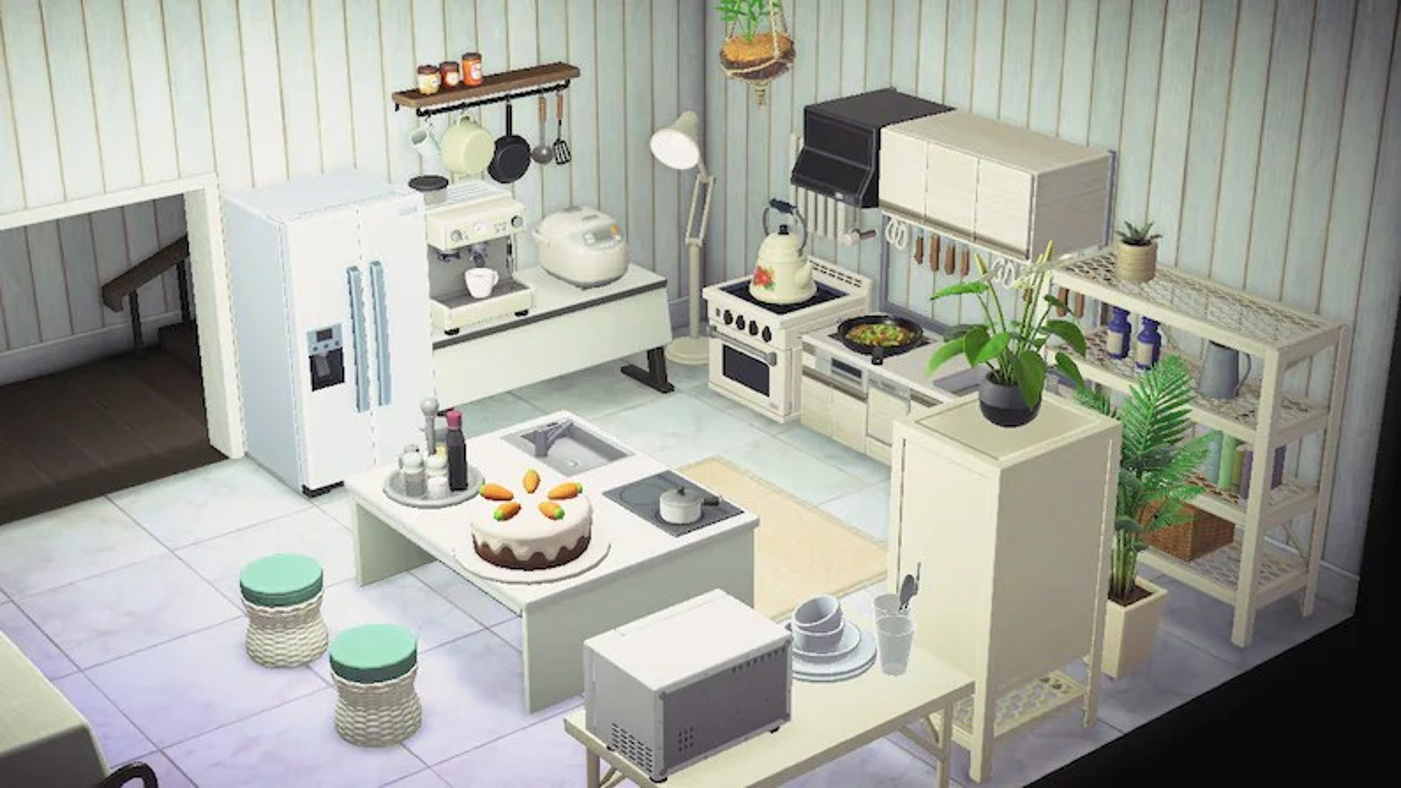 ACNH Kitchen Set Animal Crossing New Horizons Spacious | Etsy on Kitchen Items Animal Crossing  id=91429