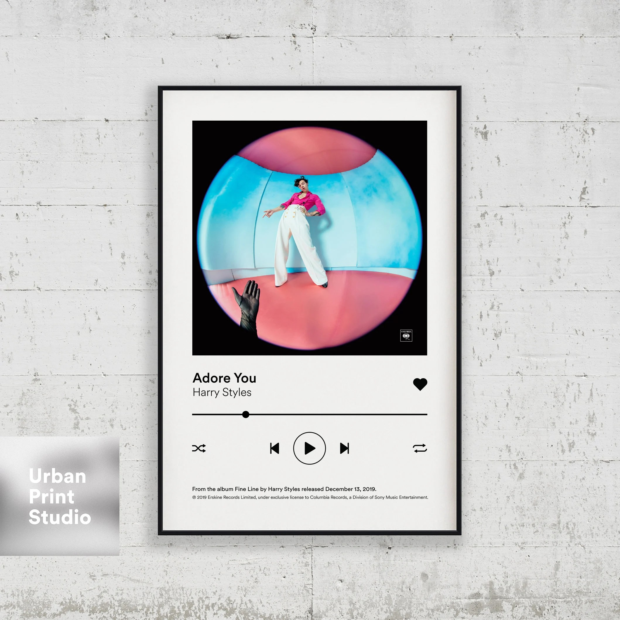 harry styles poster adore sie spotify kontrollen album cover poster druck harry stile posterdruck wandkunst home decor musik geschenke