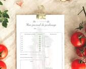 Journal de jardinage téléchargeable