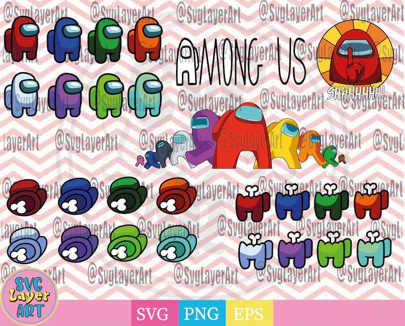 Download Among us svg bundle Among us svg png cut file Among us ...