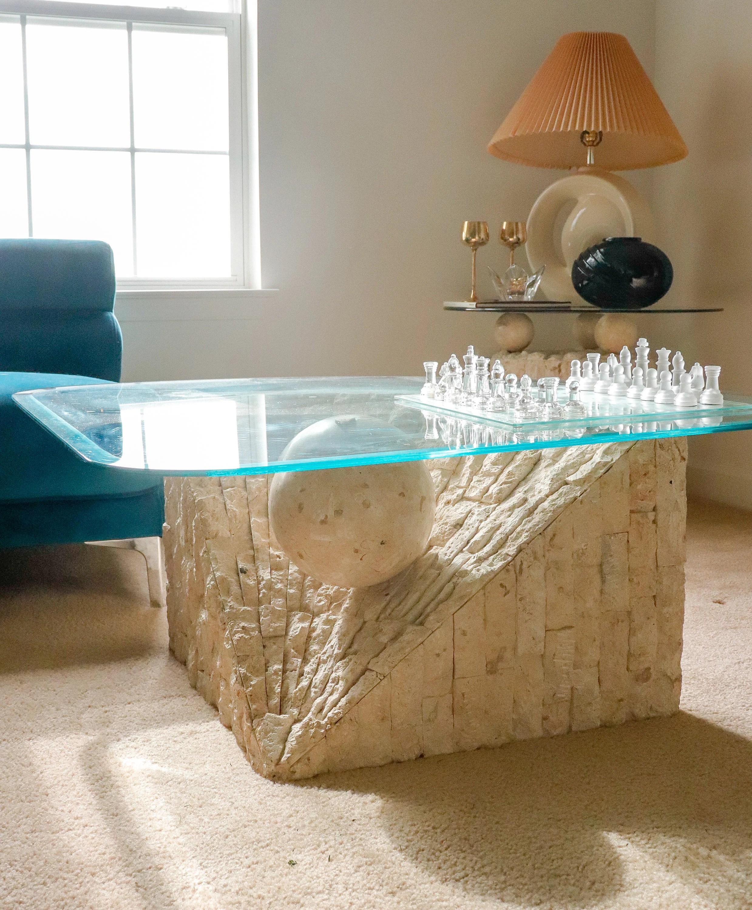 stone coffee table etsy